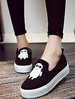 Women's Shoes Canvas Platform Creepers Loafers Outdoor / Casual Black / Red