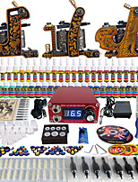 Solong Tattoo Complete Beginner Tattoo Kit 3 Pro Machine Guns 54 Inks Power Supply Needle Grips Tips TKC03