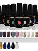 Newest Popular Top Fashion  Soak-off UV & LED Gel Polish (15ml,73-90 Colors)