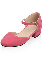 Women's Flats Comfort Novelty Spring Summer Leatherette Casual Dress Office & Career Buckle Lace-up Low Heel Gray Ruby Blushing Pink