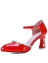 Women's Shoes Chunky Heel Heels / Pointed Toe Heels Office & Career / Party & Evening / Dress Pink / Red / White