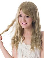 Europa y los Estados Unidos peluca rubia de fibra química fleeciness mujer ondulado largas pelucas sintéticas
