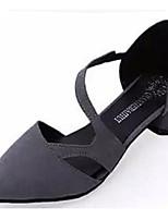 Chaussures Femme-Décontracté-Noir / Rose / Gris-Gros Talon-Bout Pointu-Talons-Tulle / Similicuir