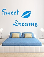 AYA™ DIY Wall Stickers Wall Decals, Sweet Dreams English Words & Quotes PVC Wall Stickers