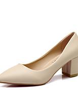 Women's Shoes  Chunky Heel Heels / Pointed Toe / Closed Toe Heels Dress Black / White