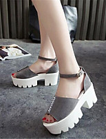 Women's Shoes Leatherette Platform Creepers Sandals Casual Black / Pink / Gray