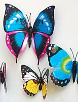 Animales Pegatinas de pared Calcomanías 3D para Pared , Plastic 12-7 CM