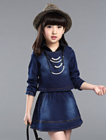 Girl's Blue Dress / Jeans,Ruffle Acrylic All Seasons