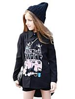Girl's Black Dress Cotton Spring