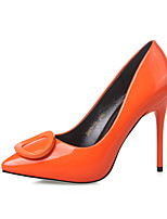 Women's Shoes  Stiletto Heel Heels / Pointed Toe / Closed Toe Heels Dress Black / Green / Gray / Orange