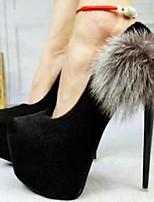 Women's Shoes  Stiletto Heel Heels / Round Toe Heels Outdoor / Dress / Casual Black