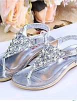 Women's Shoes Leatherette Flat Heel Comfort Sandals Casual Silver / Gold