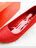 Women's Wedding Shoes Wedges / Heels / Round Toe / Closed Toe Heels Wedding / Dress Red