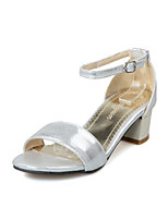 Women's Shoes Chunky Heel Open Toe Sandals Dress Black / Pink / Silver / Gold