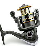7 BB Spinning Reels Gear Ratio 5.2:1 Metal Spinning Fishing Reel HD30 Random Colors