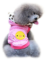 Dog Coat Pink / Yellow Winter Fashion