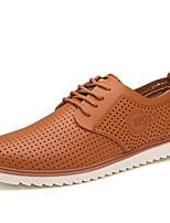 -Для мужчин-Для прогулок Повседневный Для занятий спортом-Кожа-На плоской подошве-Удобная обувь Кольцевые обувь-Туфли на шнуровке