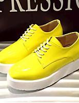 Scarpe Donna-Sneakers alla moda-Casual-Zeppe-Zeppa-Finta pelle-Nero / Giallo / Rosa / Viola