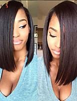 Joywigs Short Bob Cut Wigs with Baby Hair Glueless Virgin Brazilian Short Human Hair Lace Wigs Bob for Black Women