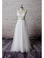 Sheath/Column Wedding Dress - White Court Train Sweetheart Lace / Tulle