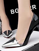 Zapatos de mujer-Tacón Stiletto-Tacones / Puntiagudos-Tacones-Boda / Vestido / Fiesta y Noche-Cuero Patentado-Plata / Gris / Oro