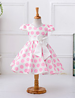 Girl's Polka Dot Dress Short Sleeve