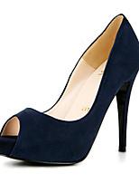 Women's Shoes Cashmere Stiletto Heel Heels / Peep Toe /  Sandals / Heels Wedding / Party & Evening / Dress