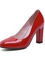 Chaussures Femme - Bureau & Travail / Habillé / Soirée & Evénement - Rose / Rouge / Blanc - Gros Talon - Talons - Talons - Cuir Verni