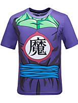 Men's Short Sleeve T-Shirt , Polyester Casual Print