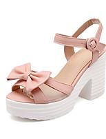 Women's Shoes Chunky Heel Peep Toe / Platform Sandals Wedding / Party & Evening / Dress Blue / Pink / White