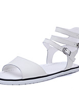 Women's Shoes  Flat Heel Peep Toe Sandals Outdoor / Dress / Casual White