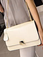 VENETA Women PU Flap Shoulder Bag / Satchel - White / Pink / Yellow / Red / Black
