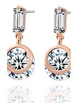 Geometric Zircon Pendant Earrings Fashion Female Wedding Supplies