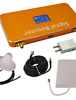 Gold LCD Display GSM/DCS 900MHz 1800MHz Cell Phone Signal Repeater Booster Amplifier with Ceiling and Panel Antenna Kit