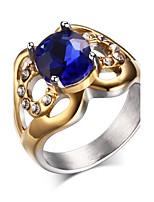 Ms Titanium Steel Diamond Ring