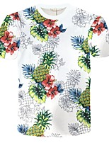 Men's Short Sleeve T-Shirt,Polyester Casual / Sport Print