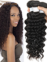3 Bundles Top Quality Brazilian Deep Wave Virgin Brazilian Human Hair Weaves Queen Weave Beauty Brazilian Deep Wave