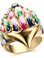 Ms Color Owls 18 K Gold Ring
