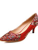 Scarpe da sposa-Scarpe col tacco-A punta / Chiusa-Matrimonio / Serata e festa-Rosso-Da donna