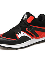 Men's Shoes Travel/Athletic/Casual Microfiber Leather Fashion Shoes White/Red/Orange/Bule