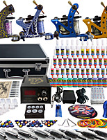 Solong Tattoo Complete Tattoo Kit 4 Pro Machine Guns 54 Inks Power Supply Foot Pedal Needles Grips Tips TK453