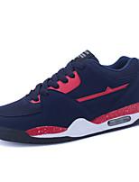 Masculino-Tênis-Conforto-Rasteiro-Preto / Azul / Vermelho-Tule-Ar-Livre / Casual / Para Esporte