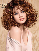 Top Selling African Brown Wig Fashion Style High Temperature Wire Short Curly Hair Wig