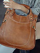 VENETA Women PU Barrel Shoulder Bag / Tote / Satchel - Pink / Brown / Gray / Black