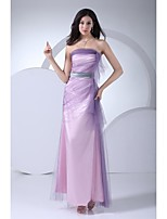 Formal Evening Dress - Multi-color Ball Gown Strapless Floor-length Tulle
