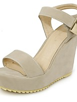 Women's Shoes Wedge Heel Platform / Open Toe Sandals Dress / Casual Black / Blue / Beige