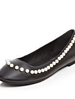 Women's Shoes Leather Flat Heel Comfort / Round Toe Flats / Loafers / Boat Shoes Office / Dress /(Genuine leather)