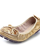 Women's Shoes Leatherette Flat Heel Comfort Flats Office & Career / Dress / Casual Silver / Gold
