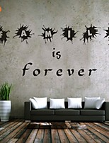 AYA™ DIY Wall Stickers Wall Decals, Family is Forever English Words & Quotes PVC Wall Stickers
