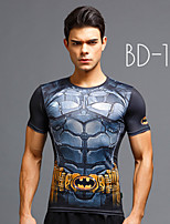 Fashion 3D Spiderman Sport T-Shirt Bd-12 Show Muscle Tights
